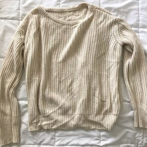 Brandy Melville Soft Cream Knit Sweater Size Small